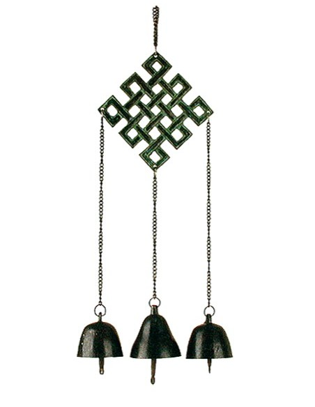 Carillon Tibétain noeud d'éternité