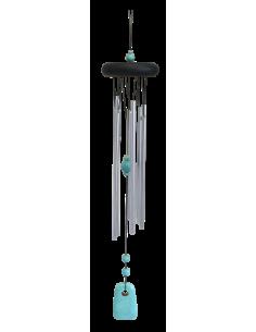 Carillon à vent métal 6 tubes Turquoise