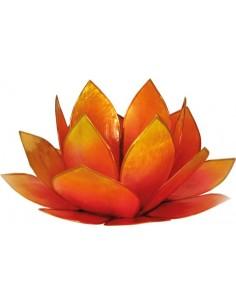 Bougeoir Lotus Levée du Soleil Rose et Jaune