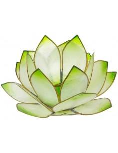 Bougeoir Lotus Levée du Soleil Vert Lime