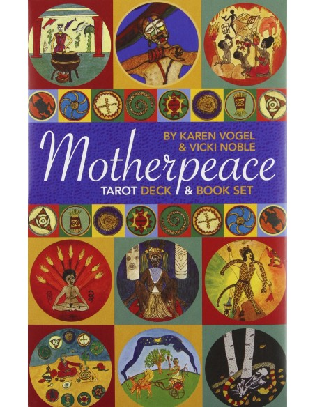 Mini Motherpeace Round Tarot Deck & Book Set - Karen Vogel and Vicki Noble [anglais]