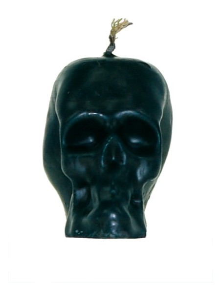 Bougie figurative Grande tête de mort Noir