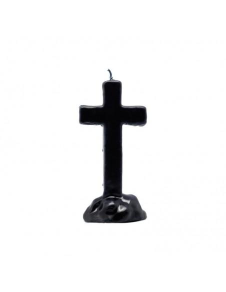 Bougie figurative Croix Noire 16cm