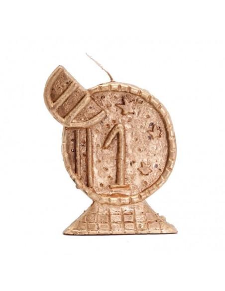 Bougie figurative Argent Euro (doré)