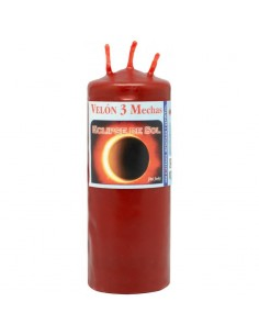 Bougie 3 mèches Lune de sang & Eclipse de soleil