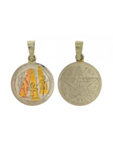 Amulette égyptienne Thot Anubis avec Tétragrammaton