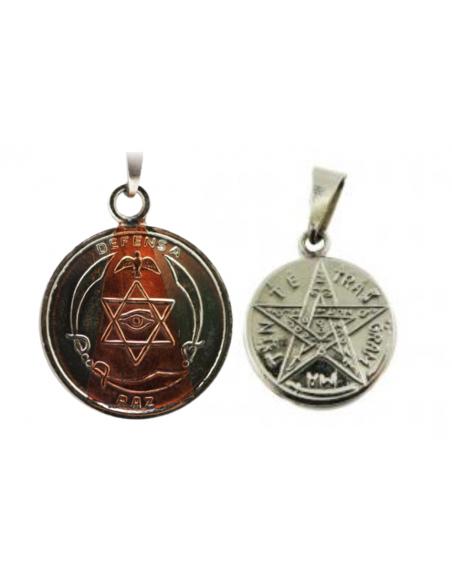 Amulette Paix & Protection avec Tétragrammaton 2.5 cm