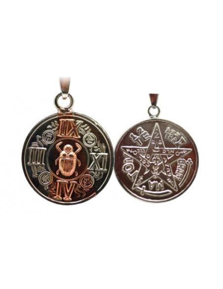 Amulette Scarabée mystique avec Tétragrammaton 2.5 cm
