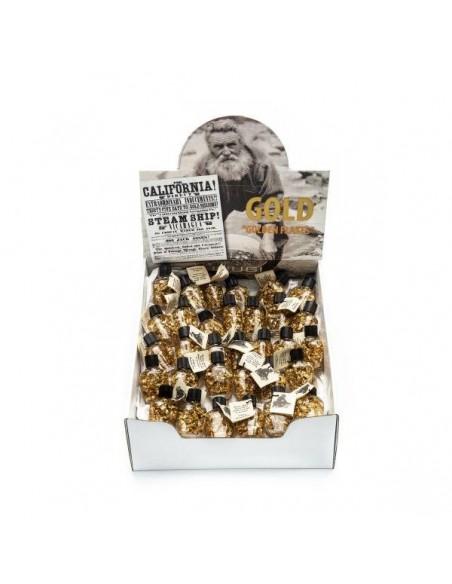 Amulette Bouteille Abondance avec feuilles d'or