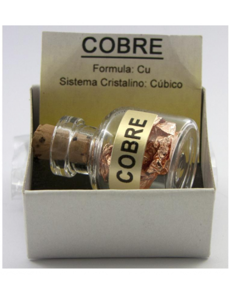 Amulette Bouteille avec feuille de cuivre