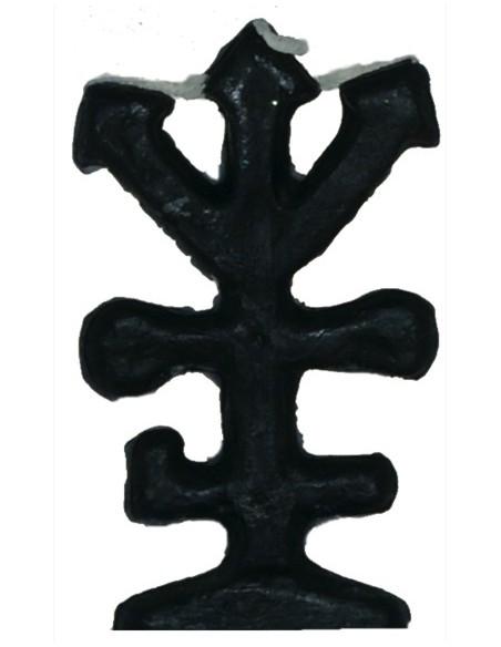 Bougie figurative Trois flèches Noire