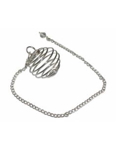 Pendule Spirale Sphère argenté - Le moins cher