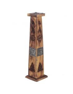 Tour porte-encens bâtons en bois de Manguier Eléphant