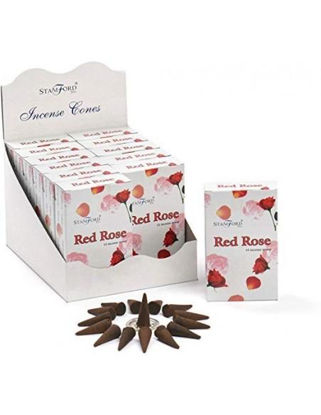 Encens Stamford Rose rouge en cônes