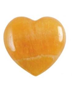 Coeur Calcite orange 4,5 cm