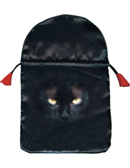 Bourse satin Chat noir