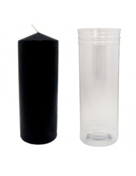 Grande bougie avec tube protecteur 15x5,5 cm