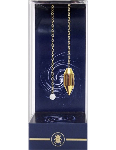 Pendule Sensibilité Cylindre doré avec chambre - Lo Scarabeo