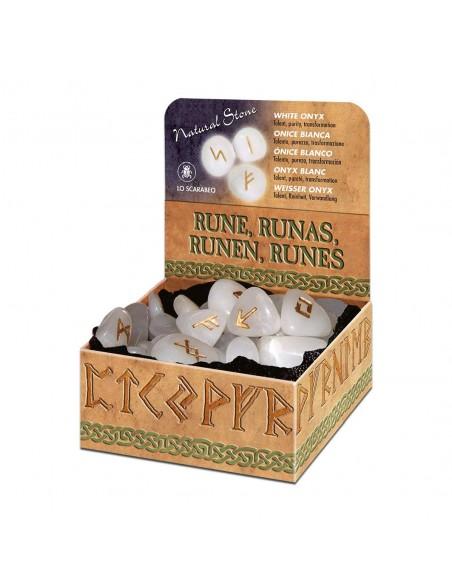 Runes en Onyx blanc Lo Scarabeo