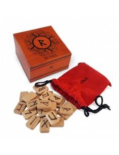 Runes en bois précieux Lo Scarabeo