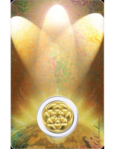 Médaille sur carte Archange Sandalphon