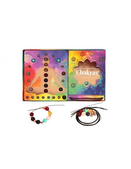 Coffret Bracelets d'harmonie de vos chakras - Helvise Gallet