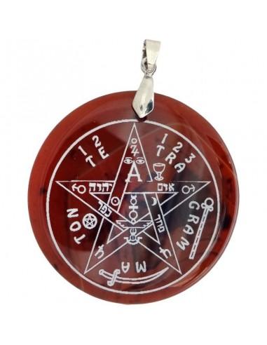Pendentif Tétragrammaton en Agate brune