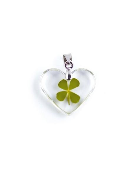 Collier Trèfle à 4 feuilles (coeur)
