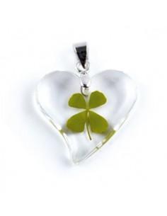 Collier Trèfle à 4 feuilles (coeur courbé)