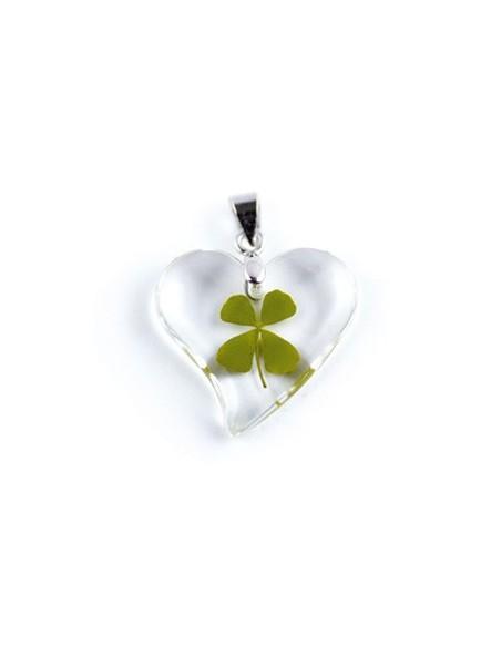Collier Trèfle à 4 feuilles (coeur2)