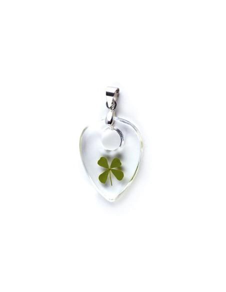 Collier Trèfle à 4 feuilles (larme)