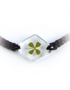 Bracelet Trèfle à 4 feuilles (losange)