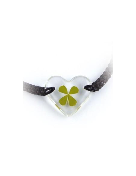 Bracelet Trèfle à 4 feuilles (coeur)