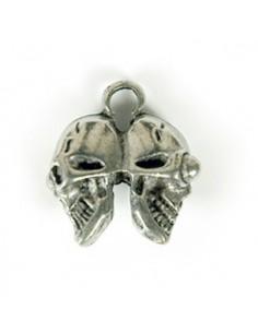 Pendentif Double Crâne 07