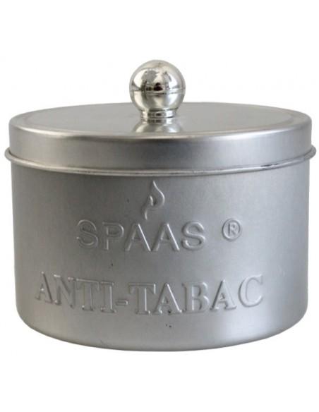 Bougie Cylindrique Anti-Tabac - Boîte Métal
