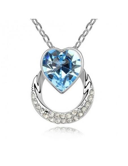 Cœur de Cristal Bleu