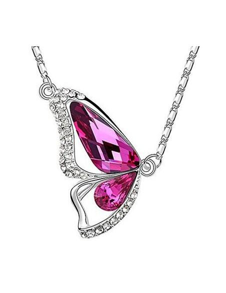 Papillon Cristal Magenta