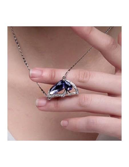 Papillon Cristal Bleu