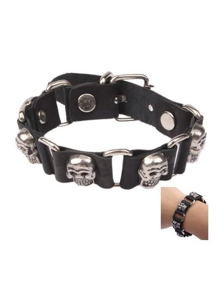 Bracelet Dame Anneaux & Crânes