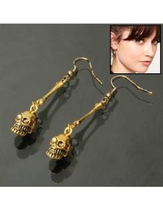 Boucles d'oreille Crâne doré