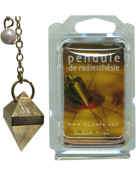 Pendule double pyramide laiton