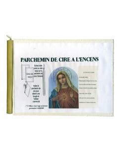 Parchemin de cire à l'encens Je vous salue Marie