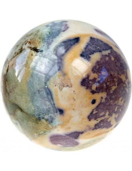 Sphère Jaspe fantaisie 8 cm