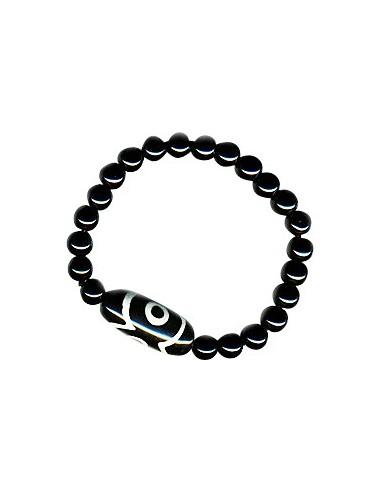 Bracelet DZI - Onyx simple