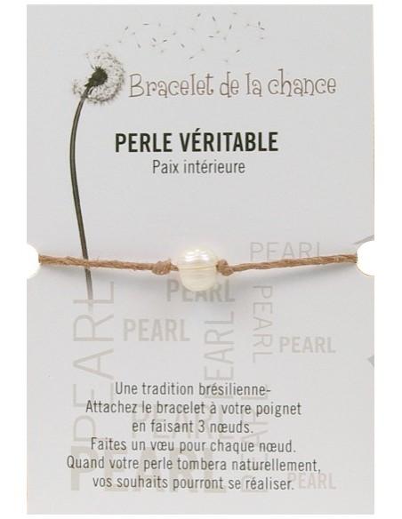 Bracelet de la chance - Perle véritable