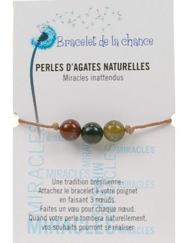 Bracelet de la chance - Perles d'Agates Naturelles