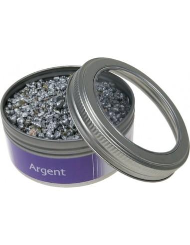 4 pendentif métal 17mm argent perles en couleur neuf 3457