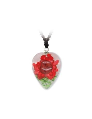 Rose Coeur Pendentif