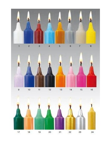 Bougie de 24 couleurs 20 cm