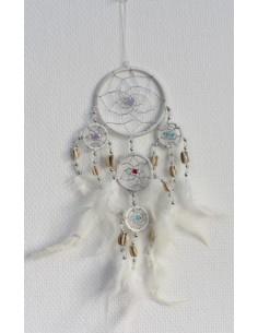 Dreamcatcher Blanc Petit 9 cm
